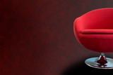 modern red retro chair poster