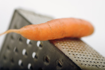 carrots on a grater