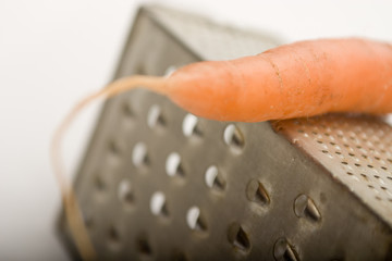 carrot on a grater