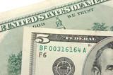 us dollar: five dollar bill poster
