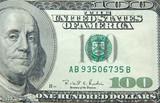 us dollar one hundred bill poster