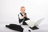 baby executive computing poster