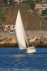 reaching sailboat