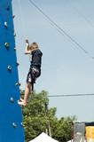 kid climbing 1 poster