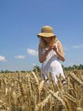 girl in field poster