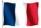 french flag on white backgorund poster