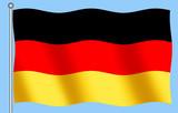 german flag on blue backgorund poster