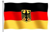 german flag with emblem poster