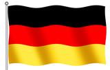 german flag waving poster