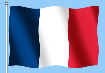 french flag on a blue background