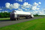 speeding truck gasoline poster