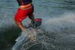 water ski boarder splash