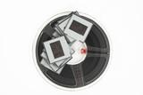 analog film slides and film reel poster