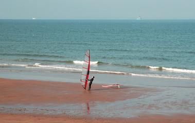 windsurfer at the beach
