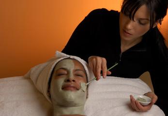 spa salon facial masque