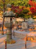 japanese autumn twilight poster