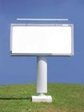 white blank billboard poster