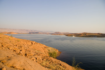 lake powell evening water