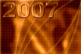 orange abstract background year 2007 poster