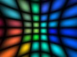 multicolor light net poster