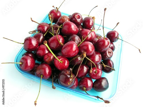 handful of sweet cherries
