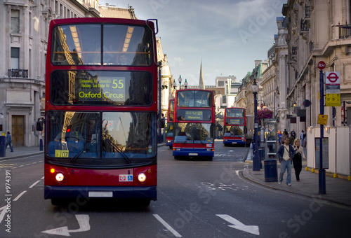 Deurstickers Londen rode bus london bus