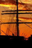 harbor silhouette poster
