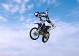 dirt bike stunt rider poster