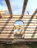 doorways, log cabin poster