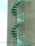 green stair poster