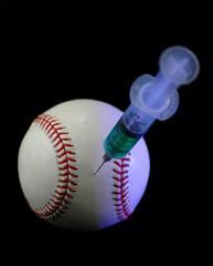 baseball and syringe