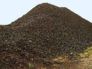 wet peat drying