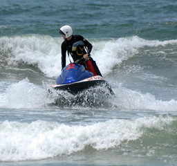 lifeguard on jetski