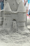 sand castle and waterfall sculpture poster