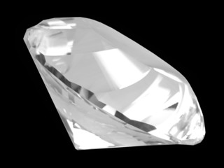 white diamond crystal (side)