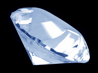 blue diamond crystal (side)
