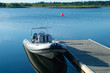 rigid inflatable boat at a pier - 982508