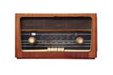 old antique radio poster