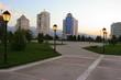 ashgabad independence park in evening