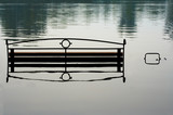 bench in water