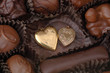 chocolate and gold hearts