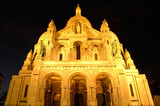 sacre coeur by night, montmartre, paris poster