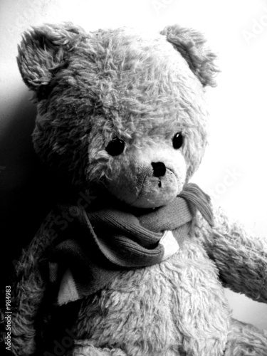 trauriger teddy