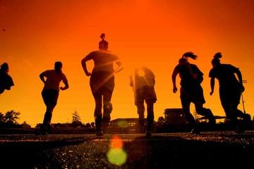 into the sun we run
