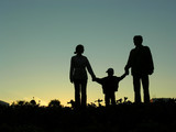family with boy sundown 2 poster