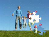 leť šťastné rodiny puzzle