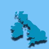 blue uk map outline poster
