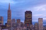 San Francisco at dusk, California, Usa poster