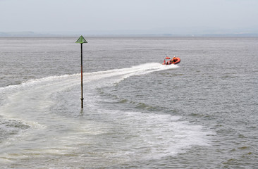 lifeboat crew on exercise