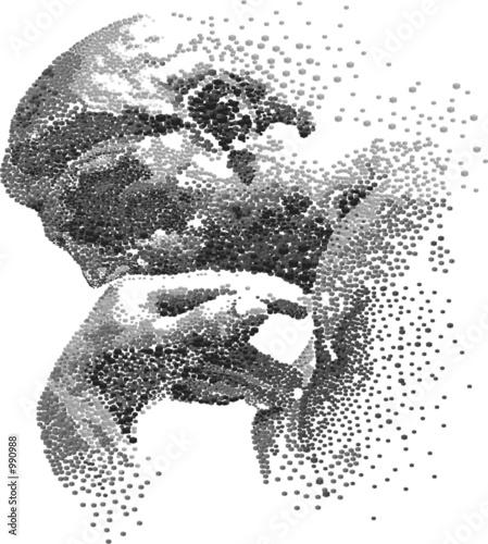 Leinwanddruck Bild thinker
